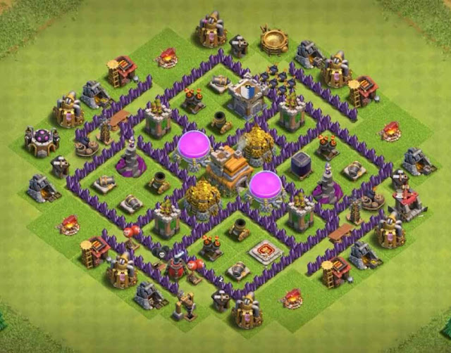 Base Town Hall 7 Clash of Clans Hybrid