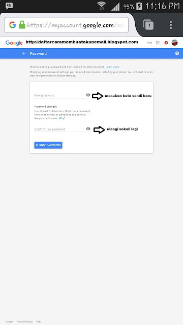 Cara Ganti Password Gmail Lewat Android