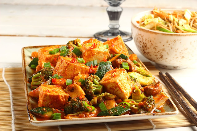 Seasoned Korean Style Tofu & Vegetables