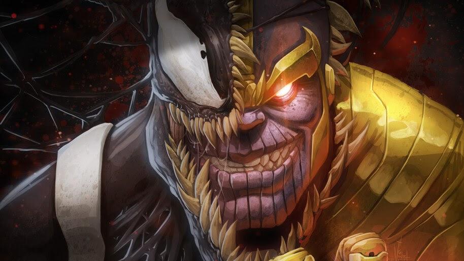 Venom, Thanos, Marvel, Comics, 4K, #4.2941