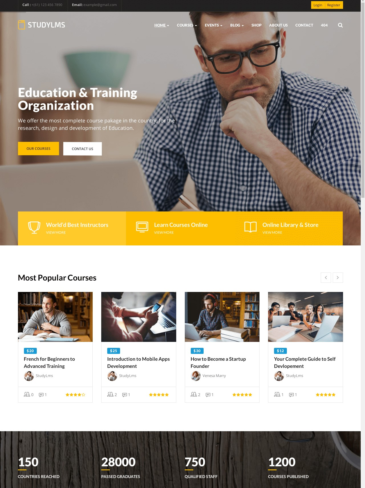 Studylms  Education LMS And Courses WordPress Theme