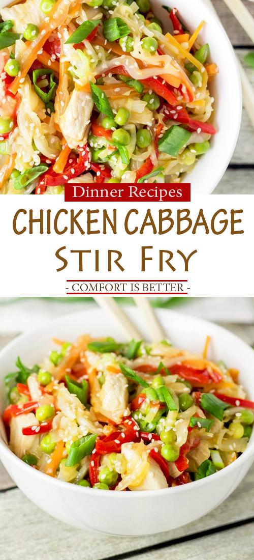 Chicken Cabbage Stir Fry (Delicious Recipe + Video)