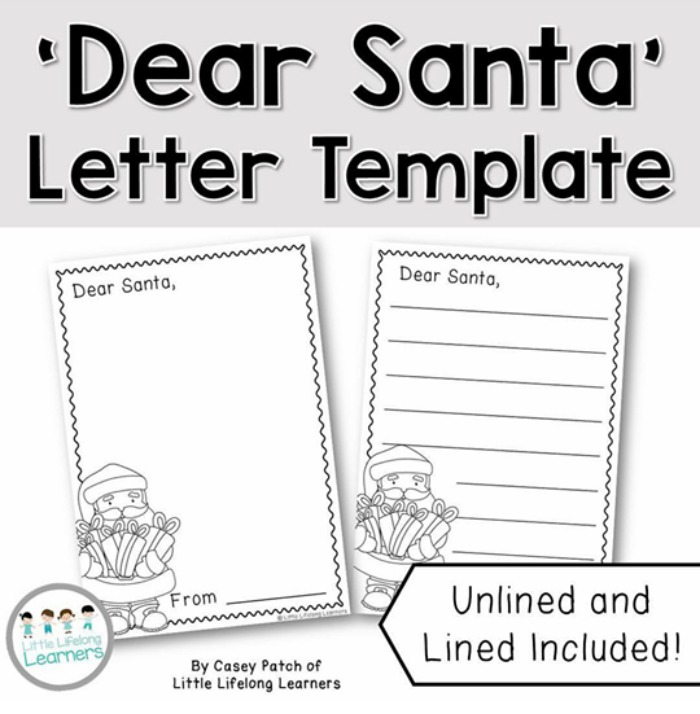 free letter to santa template