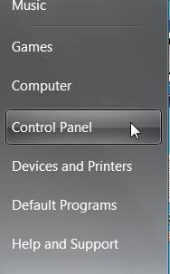 Windows 7 Control panel rajbhasha.net