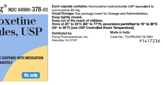 Atomoxetine: Indication, Posologie et effets secondaires..