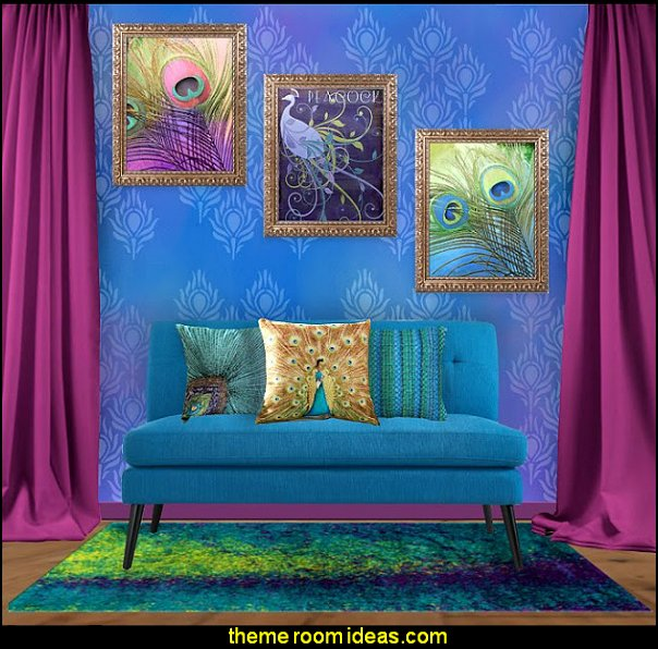 decorating with peacock colors peacock themed decor peacock themed sitting room