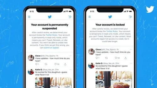 Twitter is testing new account lock notifications