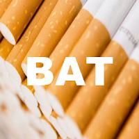 UK blue chip stock : LSE:BATS British American Tobacco (BAT) stock price chart