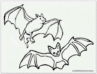 bat coloring page printable free