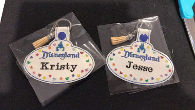 Personalised Disneyland Cast Member Badge Keyrings personalised