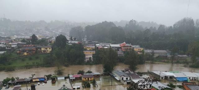Daños causados por los huracanes Eta e Iota en la ciudad guatemalteca de San Pedro Carcha.Emiliano Tux Chub