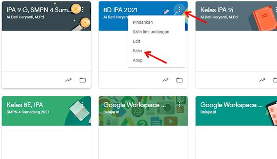 bagaimana menyalin kelas di Google Classroom, sehingga kendala dan situasi anda diatas bisa diatasi hanya dengan dua kali klik mudah.