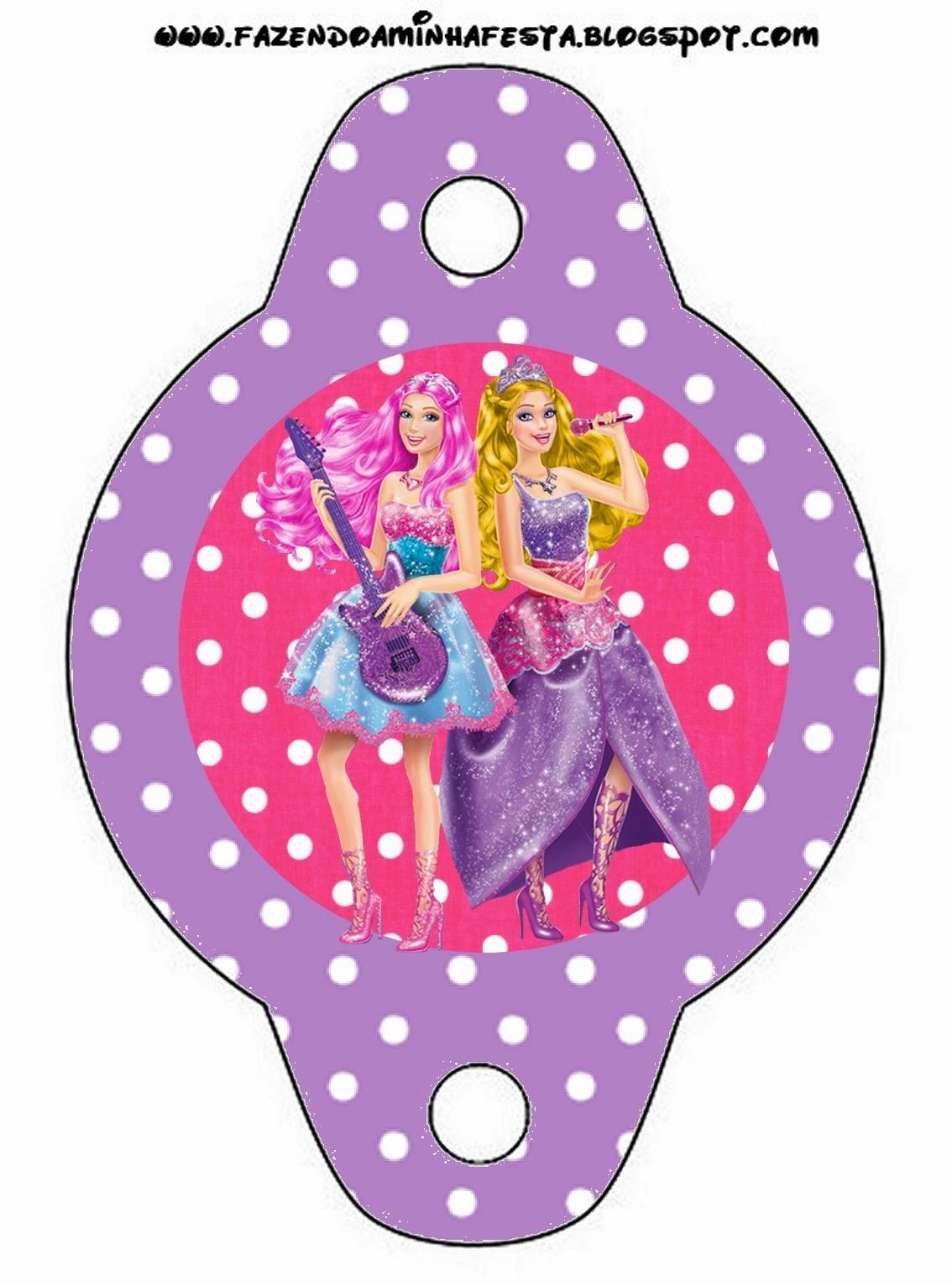 Barbie Rock Star Free Party Printables