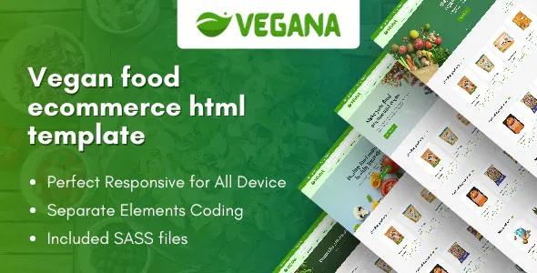 Best Vegan Food eCommerce HTML Template
