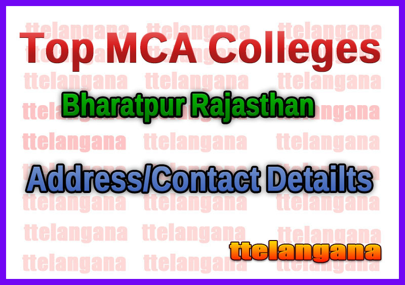 Top MCA Colleges in Bharatpur Rajasthan