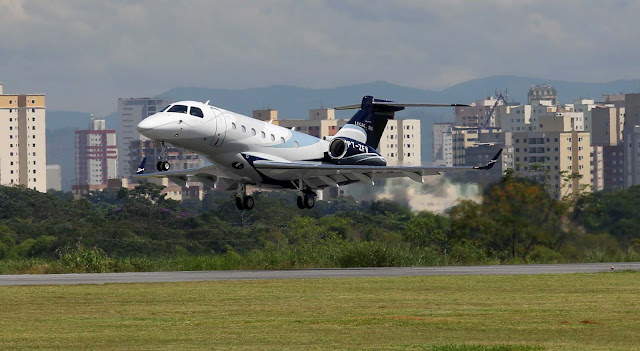 Embraer Legacy 500 During Takeoff