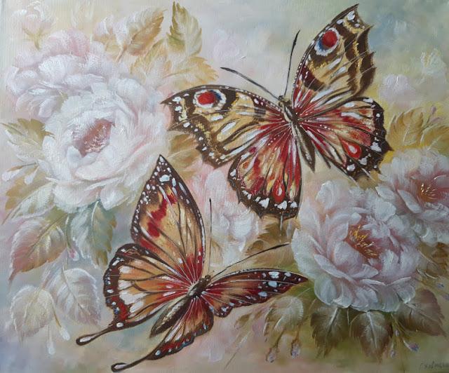 Утренние бабочки 50х60см.