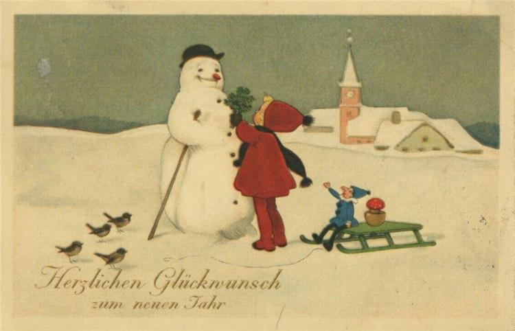 Полгода ребенку, открытка к новом году на немецкому