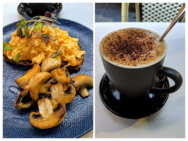 What to eat in Melbourne Australia: scrambled eggs and coffee at RMB Cafe