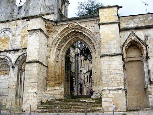 Original entrance to the priory church, La Charité sur Loire, Nievre, France. Photo by Loire Valley Time Travel.