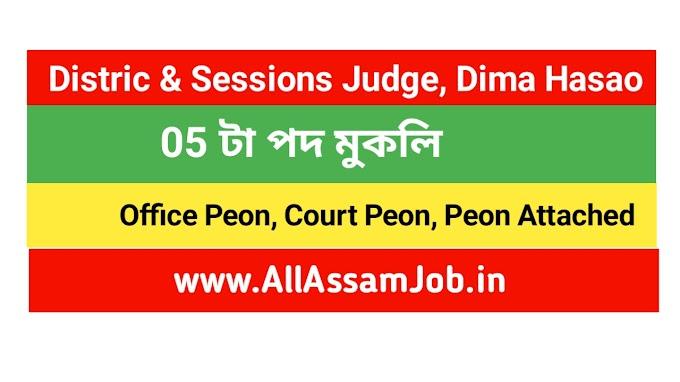 District & Sessions Judge, Dima Hasao Recruitment 2020