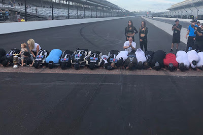 #NASCAR Driver Kevin Harvick and team Kiss the Bricks at Indy!!!