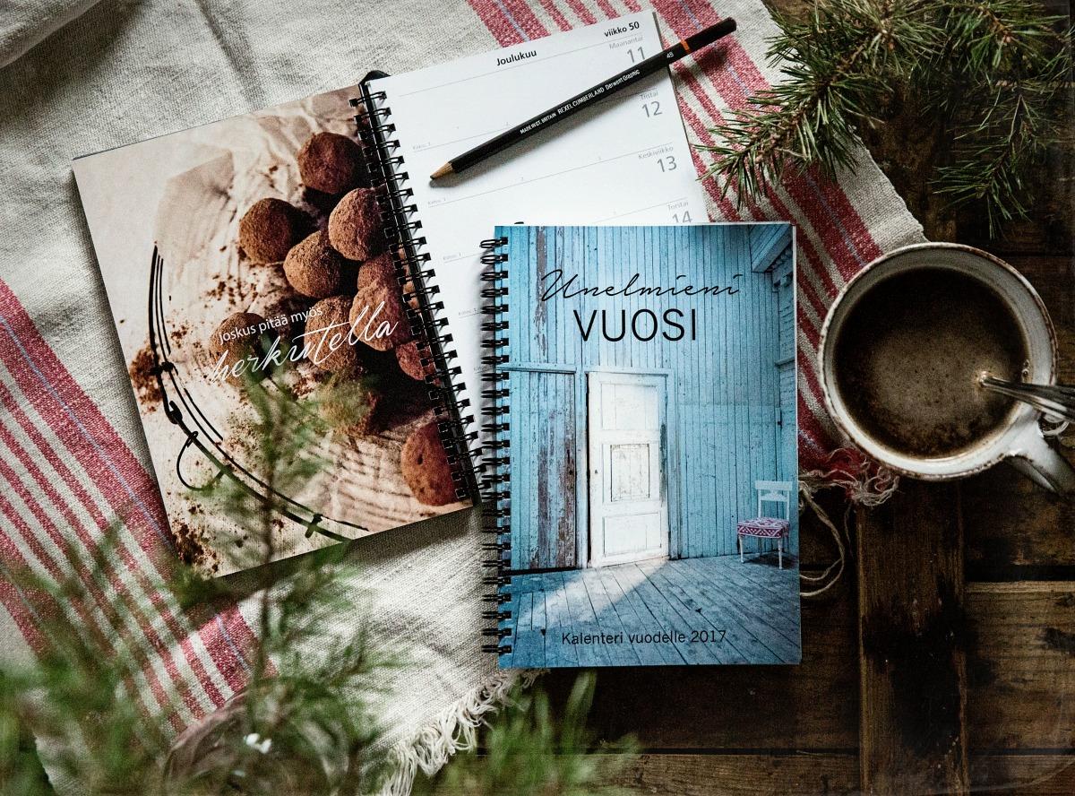 Unelmieni Vuosi kalenteri 2017, kalenteri, viikkokalenteri, joululahjavinkki