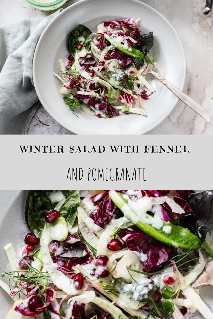 WINTER SALAD WITH FENNEL AND POMEGRANATE RECIPE