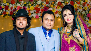 Mishu Sabbir And His Wife Shamma Holud Wedding Photos With Actor Allen Shuvro