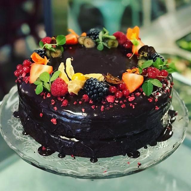 Stem and Glory vegan chocolate cake