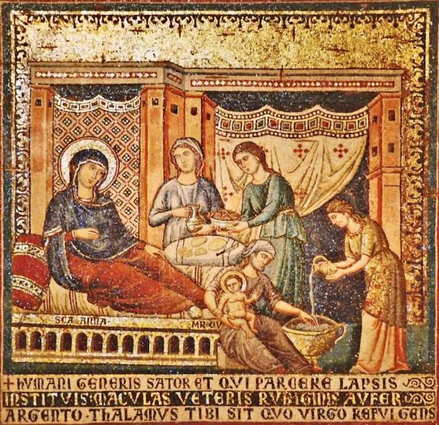 nativity theotokos cavallini rome
