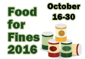 Food for Fines 2016 October 16-30