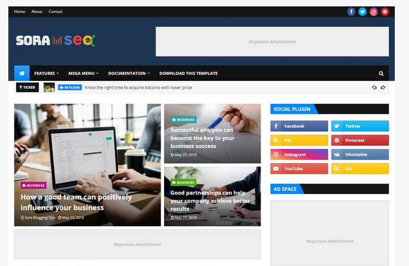 TOP FIVE BLOGGER TEMPLATES  FOR GOOGLE ADS FRIENDLY