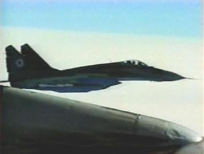 Los aviones Mig-29 tienen a cargo la defensa aérea de Pyongyang en un ...