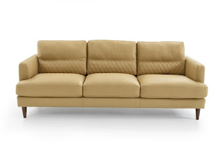 Neutral Beige leather sofa from Natuzzi