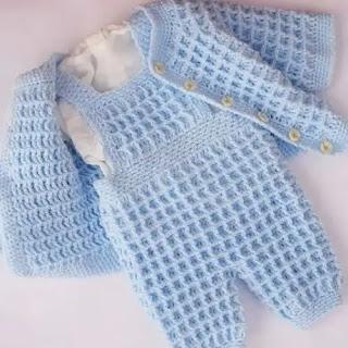 Jardinero de bebé a Crochet