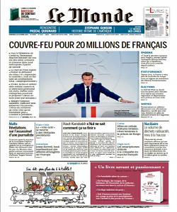 lemonde, le monde magazine 16 October 2020, le monde magazine, le monde news, free pdf magazine download.