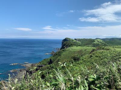 積丹岬灯台展望台からの景色
