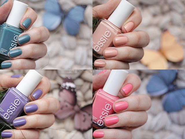 essie pool side service high class affair shades on lounge lover