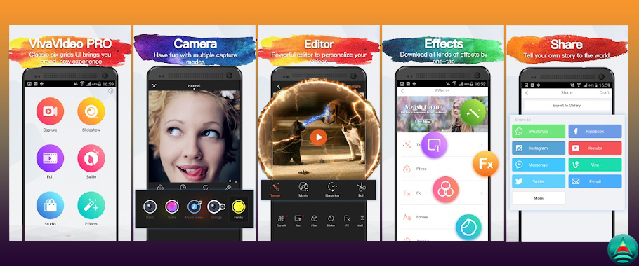 Viva Video Pro Premium Android App apk for video editing and collage making with many unique effects