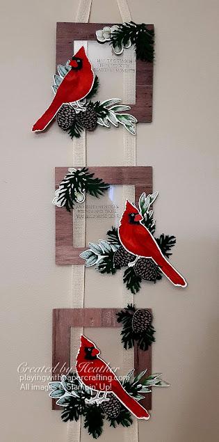 toile christmas hanging frames 2