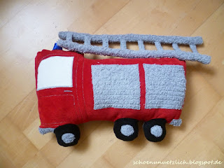 Kissen Feuerwehrauto Vorderseite 1