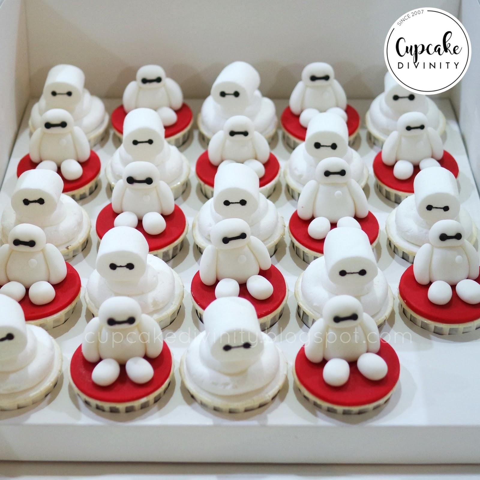 Edible DISNEY Big Hero 6 super heroes Baymax Birthday Icing Cupcake Cake Topper