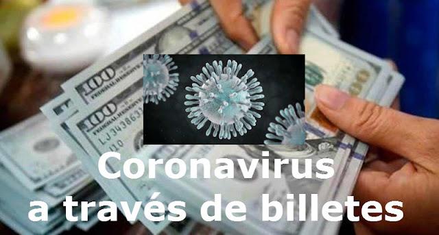 Coronavirus Billetes dólares