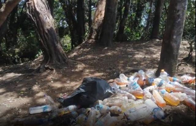 Viral Foto Sampah Botol Berisi Urine di Gunung Cikuray, Diduga Ulah Pendaki 'Nakal', Warganet Kesal
