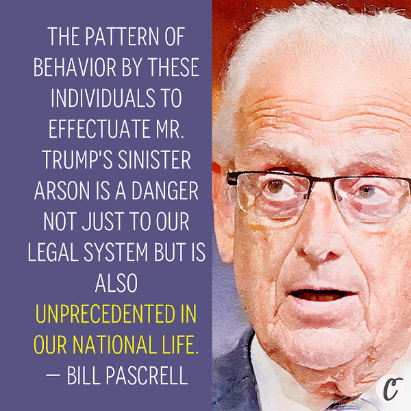 The pattern of behavior by these individuals to effectuate Mr. Trump's sinister arson is a danger not just to our legal system but is also unprecedented in our national life. — Rep. Bill Pascrell, a Democrat from New Jersey