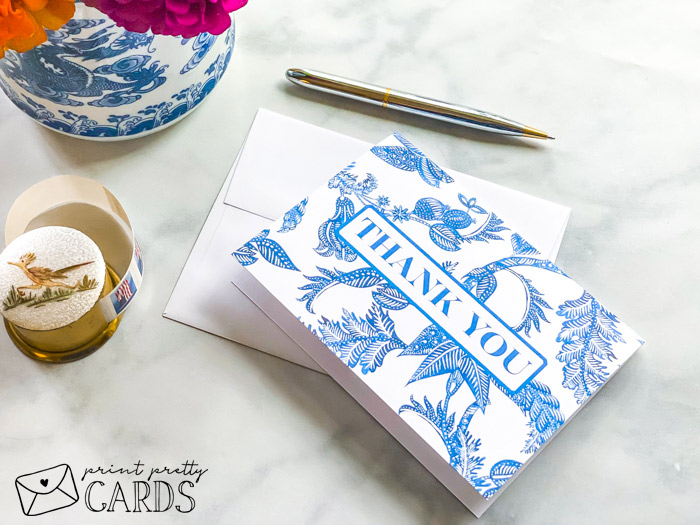 Blue and White Cards