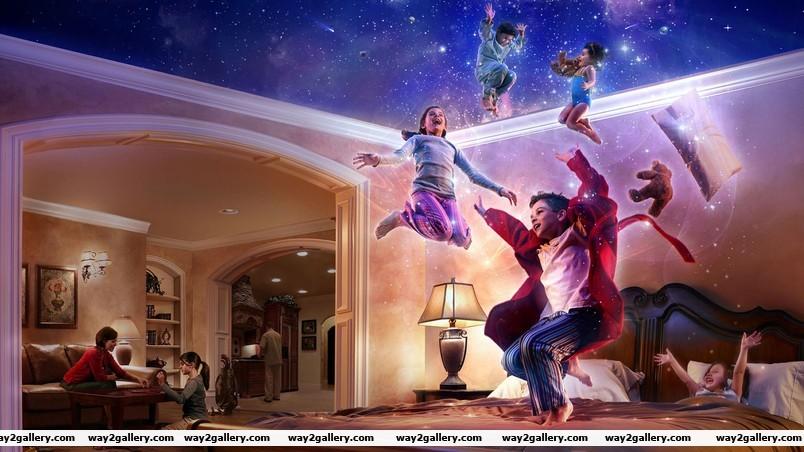 Family digital art wallpaper