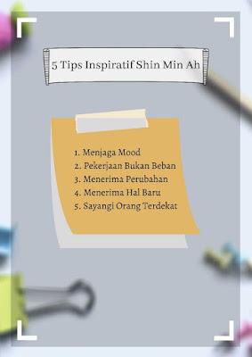 5 tips inspiratif hidup shin min ah