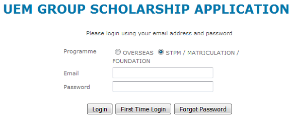 UEM Group scholarship online application form and student guide how to apply this scholarship